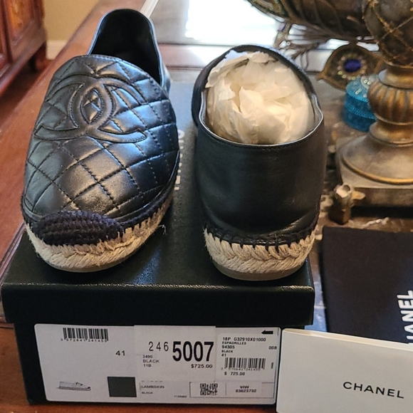 Chanel Espadrilles collectors edition quilted shoe